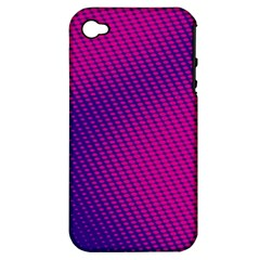 Purple Pink Dots Apple iPhone 4/4S Hardshell Case (PC+Silicone)