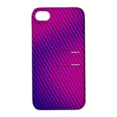 Purple Pink Dots Apple Iphone 4/4s Hardshell Case With Stand