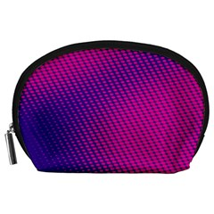 Purple Pink Dots Accessory Pouches (Large)