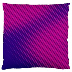 Purple Pink Dots Large Flano Cushion Case (two Sides)