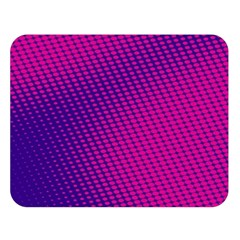 Purple Pink Dots Double Sided Flano Blanket (large)
