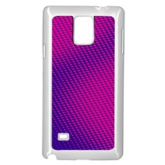 Purple Pink Dots Samsung Galaxy Note 4 Case (White)