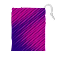 Purple Pink Dots Drawstring Pouches (Extra Large)