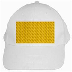 Yellow Dots Pattern White Cap