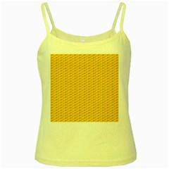 Yellow Dots Pattern Yellow Spaghetti Tank