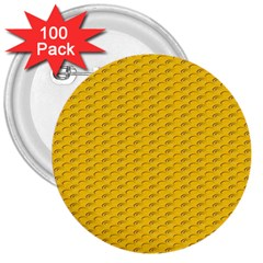 Yellow Dots Pattern 3  Buttons (100 pack)
