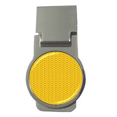 Yellow Dots Pattern Money Clips (round)