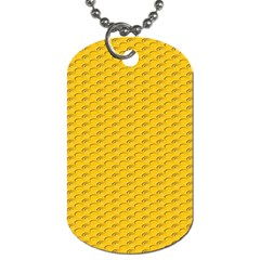 Yellow Dots Pattern Dog Tag (one Side)