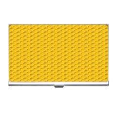 Yellow Dots Pattern Business Card Holders