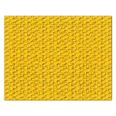 Yellow Dots Pattern Rectangular Jigsaw Puzzl