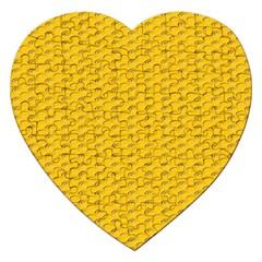 Yellow Dots Pattern Jigsaw Puzzle (heart)