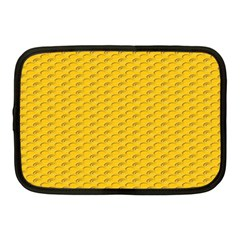 Yellow Dots Pattern Netbook Case (medium)