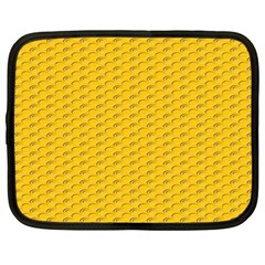 Yellow Dots Pattern Netbook Case (large)