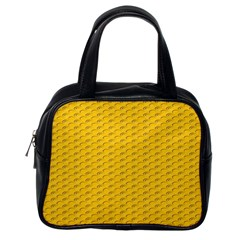 Yellow Dots Pattern Classic Handbags (one Side)
