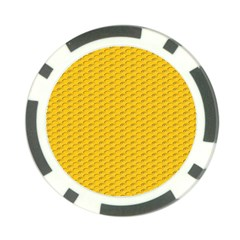 Yellow Dots Pattern Poker Chip Card Guard (10 Pack)