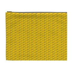 Yellow Dots Pattern Cosmetic Bag (xl)