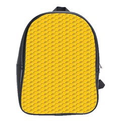 Yellow Dots Pattern School Bags(Large)