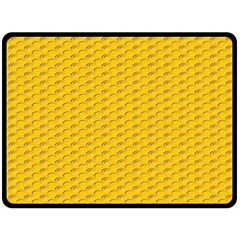Yellow Dots Pattern Fleece Blanket (large)