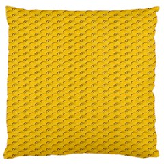 Yellow Dots Pattern Large Cushion Case (Two Sides)