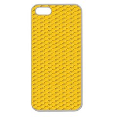 Yellow Dots Pattern Apple Seamless iPhone 5 Case (Clear)