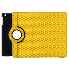 Yellow Dots Pattern Apple Ipad Mini Flip 360 Case