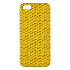 Yellow Dots Pattern Apple iPhone 5 Premium Hardshell Case