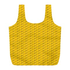 Yellow Dots Pattern Full Print Recycle Bags (l)