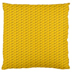 Yellow Dots Pattern Large Flano Cushion Case (Two Sides)
