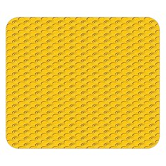 Yellow Dots Pattern Double Sided Flano Blanket (small)
