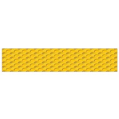 Yellow Dots Pattern Flano Scarf (small)