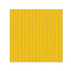 Yellow Dots Pattern Small Satin Scarf (square)