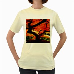 Maple Tree Nice Women s Yellow T-Shirt