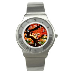 Maple Tree Nice Stainless Steel Watch