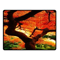 Maple Tree Nice Double Sided Fleece Blanket (small)