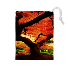 Maple Tree Nice Drawstring Pouches (large)