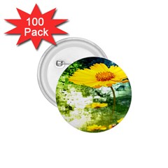 Yellow Flowers 1 75  Buttons (100 Pack)