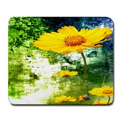 Yellow Flowers Large Mousepads