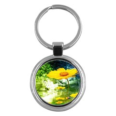 Yellow Flowers Key Chains (Round)