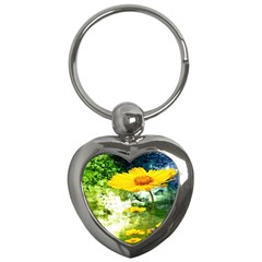 Yellow Flowers Key Chains (heart)