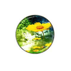 Yellow Flowers Hat Clip Ball Marker (4 pack)