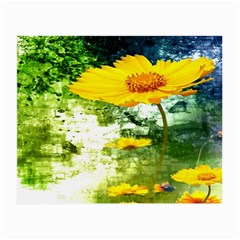 Yellow Flowers Small Glasses Cloth
