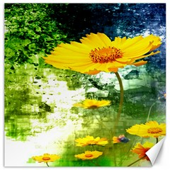 Yellow Flowers Canvas 20  x 20