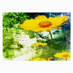 Yellow Flowers Large Glasses Cloth