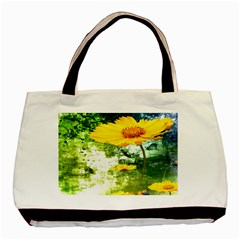 Yellow Flowers Basic Tote Bag (Two Sides)