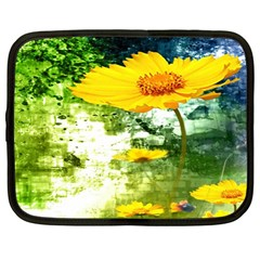 Yellow Flowers Netbook Case (Large)