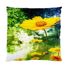 Yellow Flowers Standard Cushion Case (One Side)