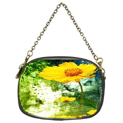 Yellow Flowers Chain Purses (two Sides)