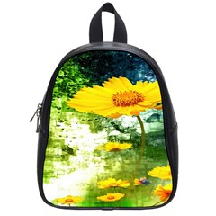 Yellow Flowers School Bags (Small)
