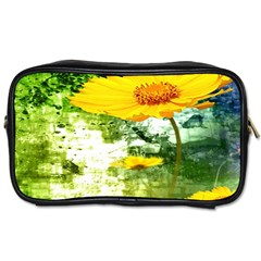 Yellow Flowers Toiletries Bags 2-Side