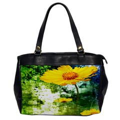 Yellow Flowers Office Handbags